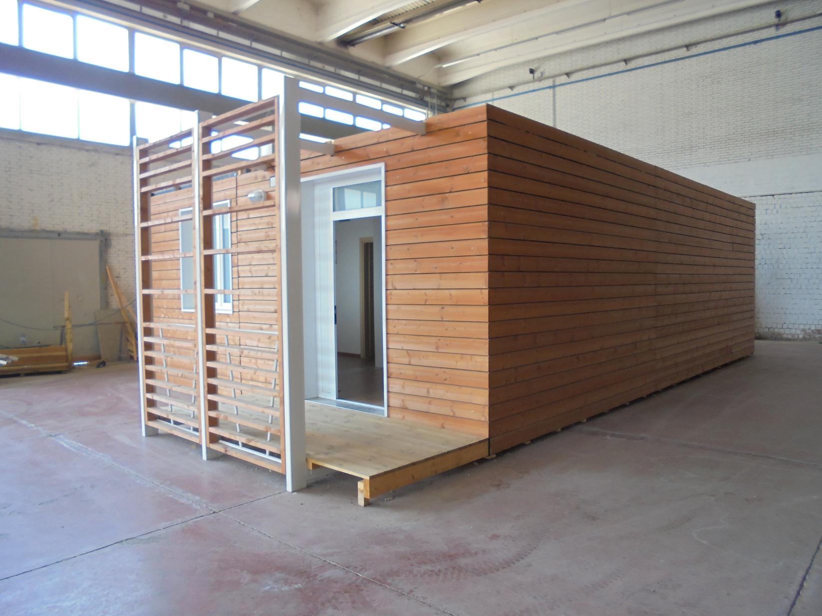 Casa prefabbricata in legno shelbox 9 80x6 70 4springs for Casa mobile in legno