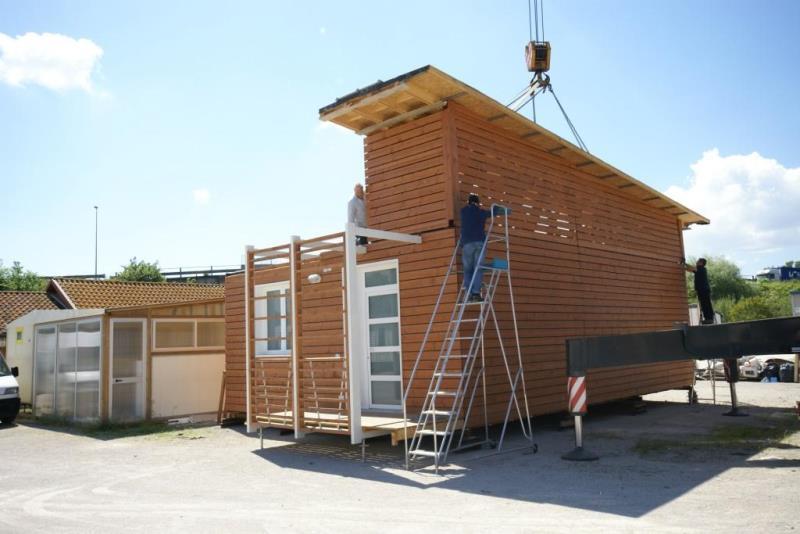 Trasporto e montaggio di case mobili