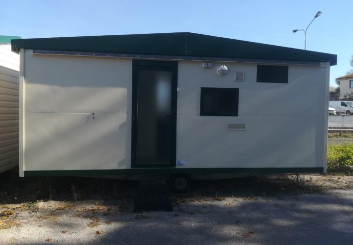 MAXI CARAVAN SHELBOX 5,60x3,00 (16,8 MQ) CON CUCINOTTO ESTERNO