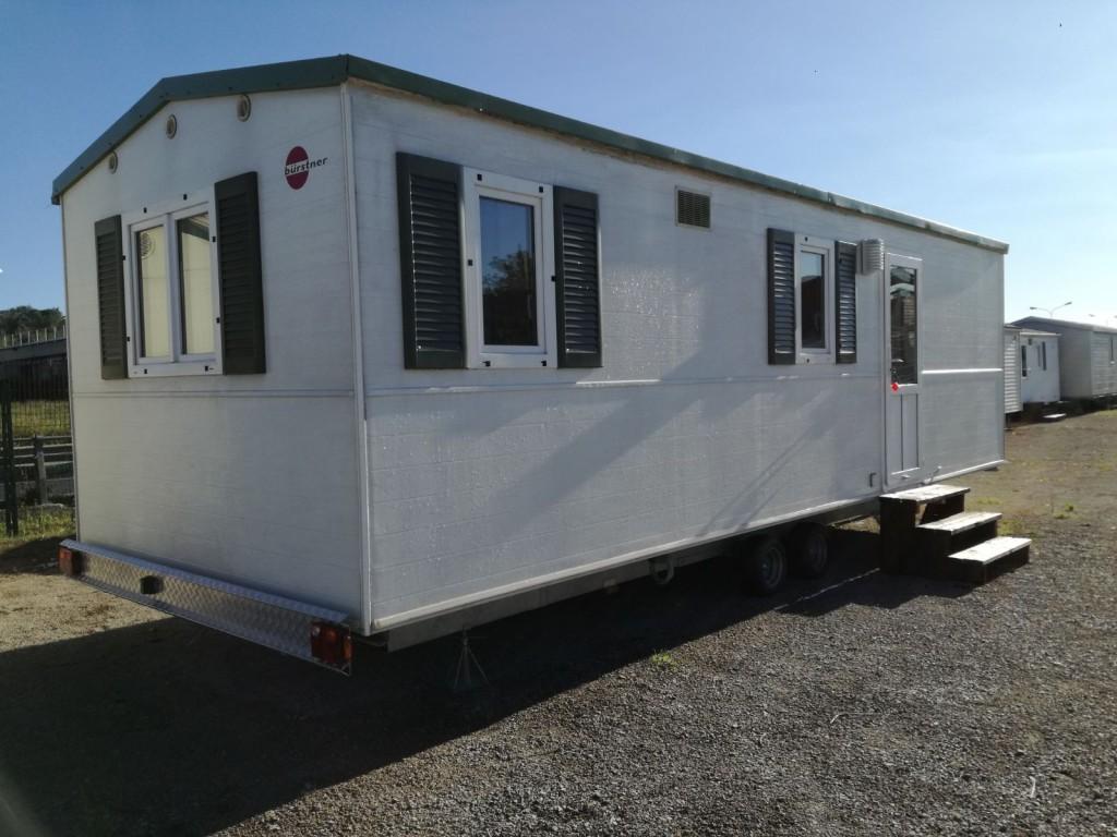Casa mobile usata burstner 8 00x3 00 su carrello omologato for Casa mobile