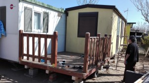Montaggio veranda